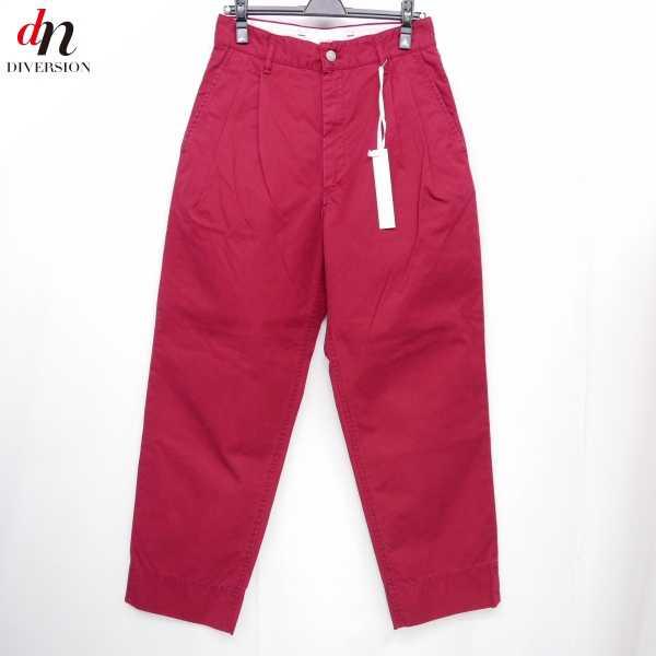 【未使用品】 17SS The Letters ザ レターズ Hight Waisted Ventile Pants. ハイウエスト タック ベンタイル パンツ RED S 【中古】 DNS-5622