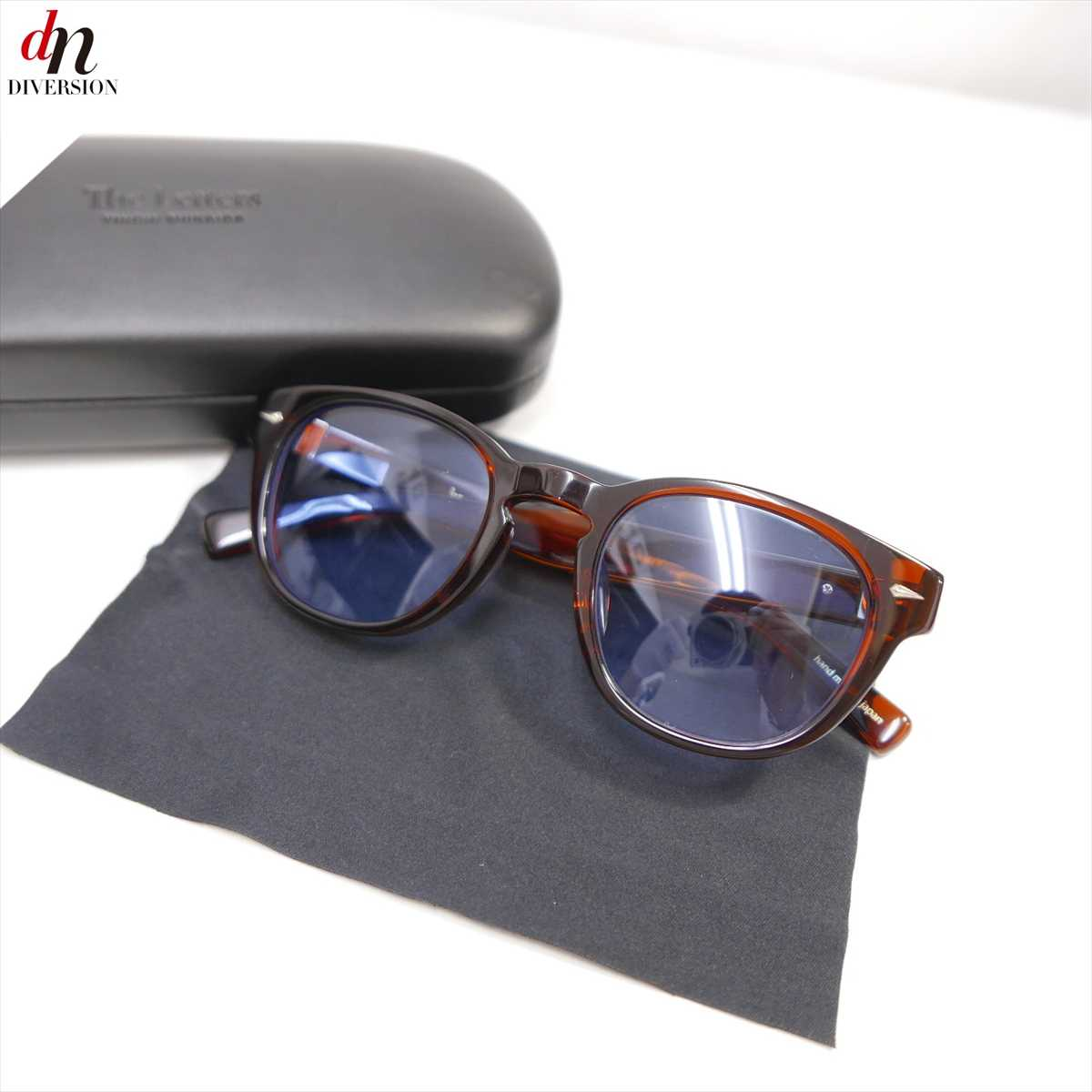 18SS The Letters kearny END ザ レターズ カーニー エンド Wellington Sunglasses. ウエリントン セルフレーム サングラス BROWN 【中古】 DNS-7301