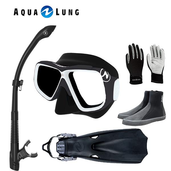 アクアラング 軽器材5点セットヴァリオマスクヴァリオスノーケルTUSA ツサ ロングブーツ マイスター フィンマリングローブ スキューバダイビング 軽器材セット