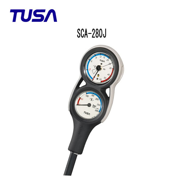 TUSA (ツサ) ゲージ SCA-280J 2連ゲージ 残圧計 水深計 メンズ レディース 男性 女性 男女兼用 ダイビング・メーカー在庫確認します