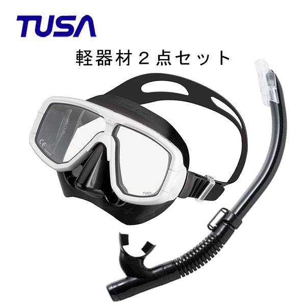 TUSA(ツサ) 軽器材2点セットプラチナマスク M-20QBUS-TUSA ハイパードライエリート2 スノーケルスキューバダイビング・シュノーケリング