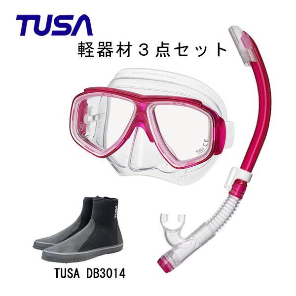 TUSA(ツサ) 軽器材2点セットスプレンダイブ2 M-7500US-TUSA ハイパードライエリート2 スノーケルTUSA ロングブーツスキューバダイビング・シュノーケリング