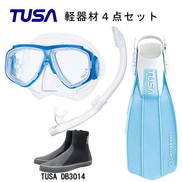 TUSA(ツサ) 軽器材4点セットスプレンダイブ2 M-7500US-TUSA ハイパードライエリート2 スノーケルリブレーターテンロングブーツスキューバダイビング・シュノーケリング