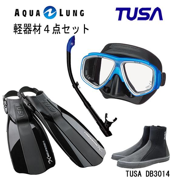 当店一番人気 超ロングセラーマスクやデザインにこだわったスノーケルなど人気の商品を集めた4点セット ダイビング スノーケリング マリンスポーツ マリンレジャー TUSA ツサ M-7500QBAQUALUNG ヴァリオスノーケルリブレーターテン 公式ストア ブラックシリコン フィンロングブーツスキューバダイビング シュノーケリング 軽器材4点セットスプレンダイブ2 アクアラング