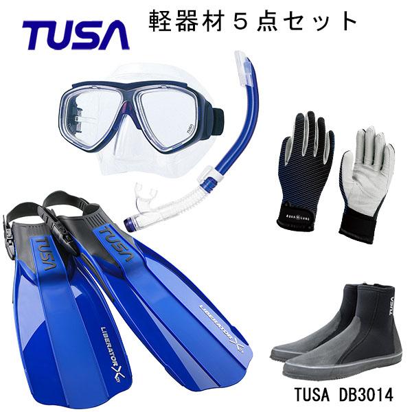TUSA(ツサ) 軽器材5点セットスプレンダイブ2 M-7500US-TUSA ハイパードライエリート2 スノーケルリブレーターテンロングブーツスリーシーズングローブ