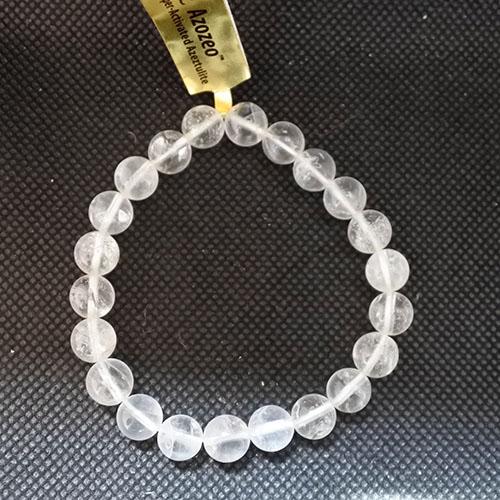 サチャロアゼツライト8ミリ(アゾゼオ水晶) アセンション&パワーブレスレット 腕輪 証明書付き