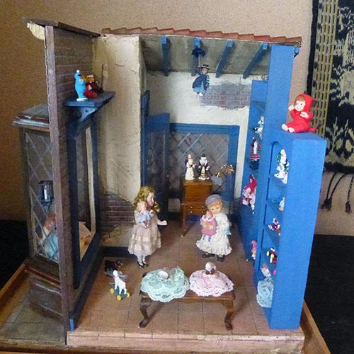 ミニチュアドールハウス アメリカ製 アンティークドールハウス おもちゃ屋さん お人形屋さんの少女たち アメリカ製 アンティークミニチュアドールハウス一点もの!1/12スケール, プロの工具ショップ YOSHIMURA:ea10e29c --- sunward.msk.ru