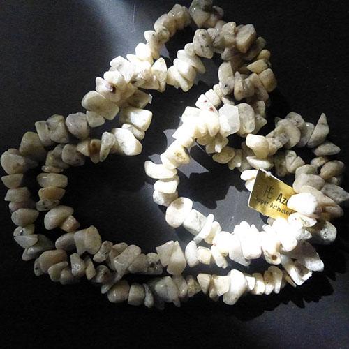 アゾゼオ サンダローザアゼツライト(アゾゼオ)水晶ナゲットストランドネックレス
