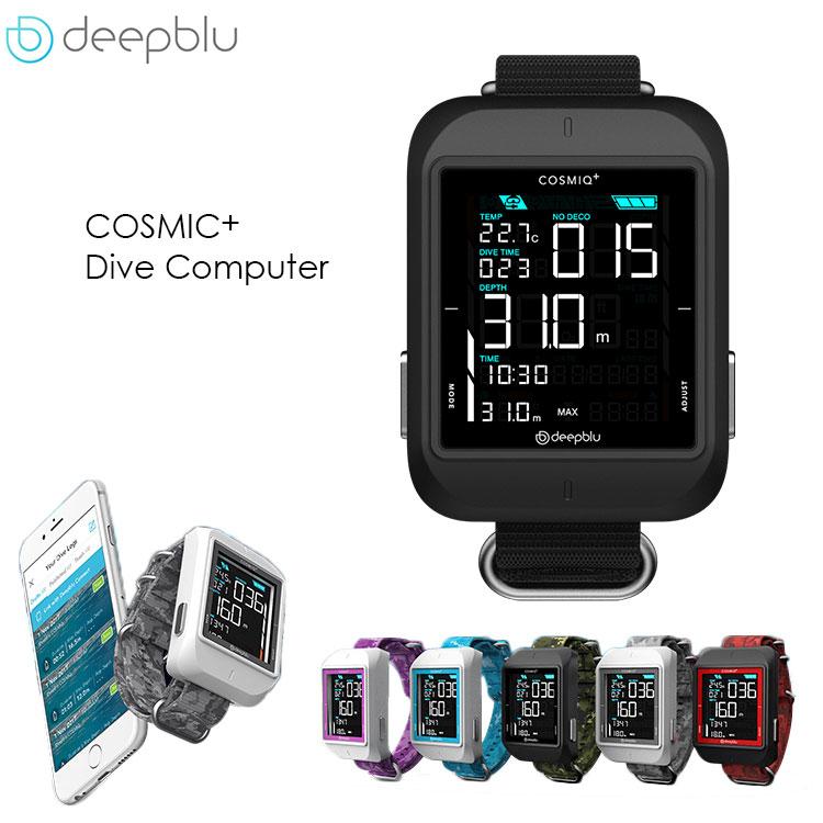 ダイブコンピューター ダイコン deepblu ディープブルー COSMIQ+(コズミック) ダイビングコンピューター リストタイプ カラー液晶 USB充電