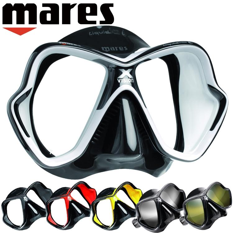 ダイビング マスク mares マレス エックスビジョン ウルトラ リキッドスキン軽器材