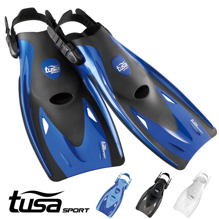 スキンダイビングにも最適なコンパクトストラップフィン シュノーケリング用フィン tusa sport セール特価 UF21 SALE開催中 フィン ツサスポーツ