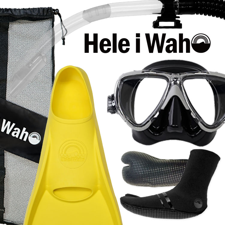 ダイビング マスク フィン スキューバダイビング 度付き 対応 軽器材 セットシュノーケル ブーツ セット 【manoa2+-kiki+-holo-TABIsox-SKNmesh】 軽器材セット