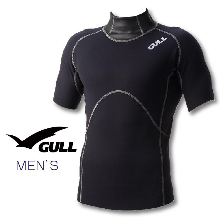 インナー GULL/ガル 1mmSCSショートスリーブハイネック メンズ ダイビング インナー 半袖 男性用