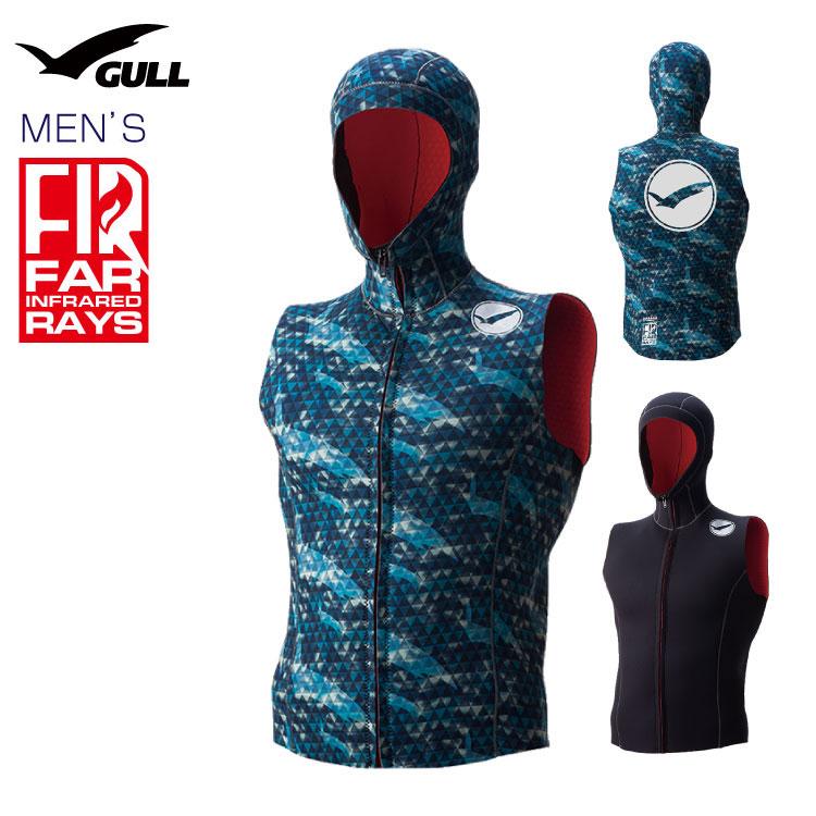 フードベスト GULL/ガル 2mm×3mmFIRフードベスト2 メンズ インナー ダイビング 防寒対策 男性用