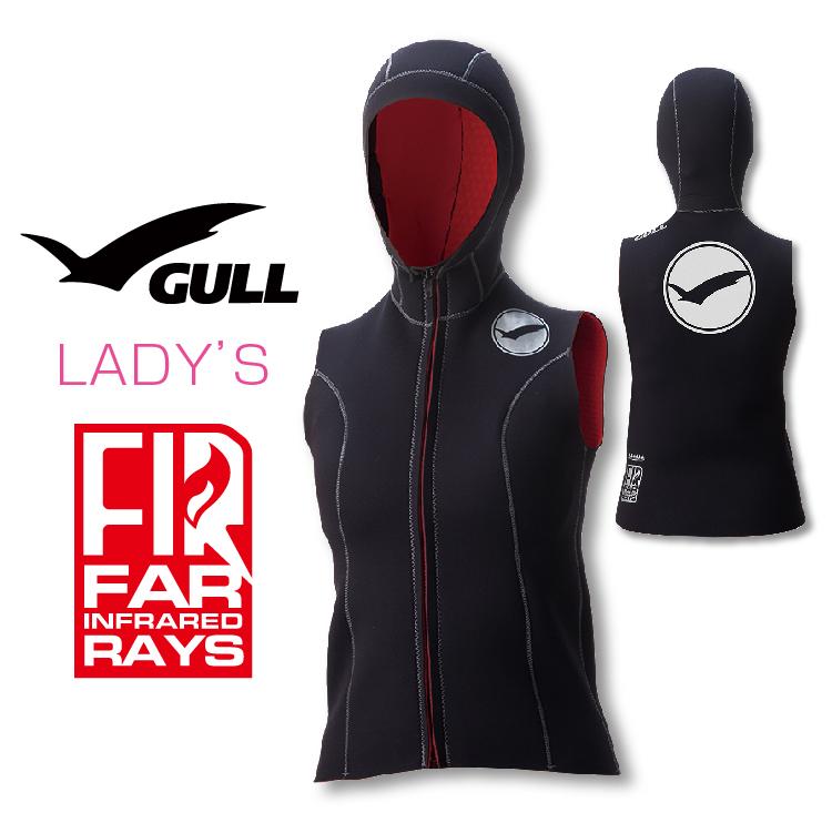 フードベスト GULL/ガル 2mm×3mmFIRフードベスト2 ウィメンズ インナー ダイビング 防寒対策 女性用
