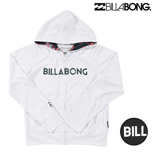e3430211f0 BILLABONG (handbill Bonn) kids Jr. long sleeves rush guard white rush parka UV  cut [AJ015-852AZ]