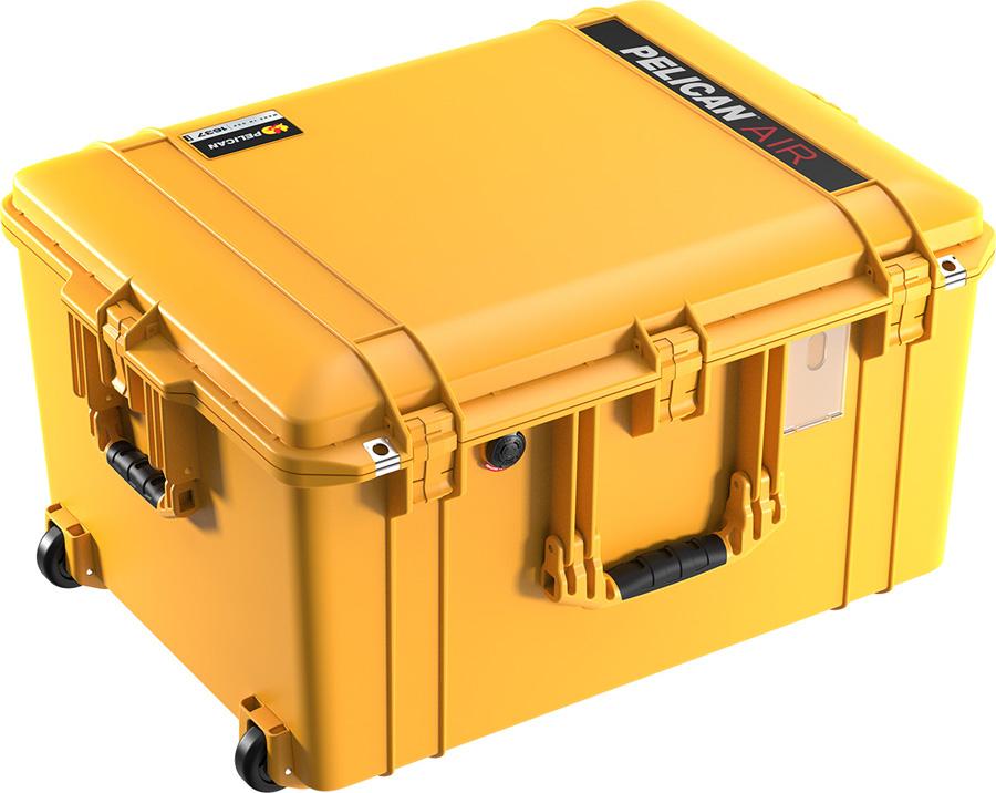 PELICAN(ペリカン)エアケース 1607 フォーム付 YELLOW [イエロー] [016070-0000-240] キャスター付 ハードケース 防水性・耐衝撃性・防塵性 保護ケース カメラ用品