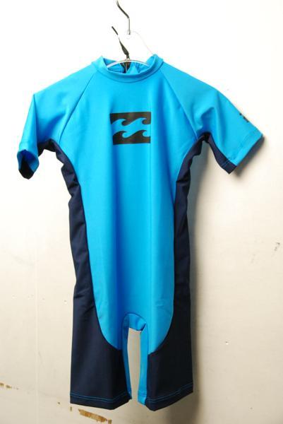 新品 BILLABONG キッズ用ラッシュスーツ(ラットトリコット) サイズ:90 [S29458]:街のダイビング屋さん 店