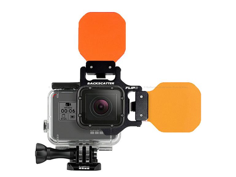 Fisheye(フィッシュアイ) GoPro HERO5/6/7 フリップオレンジフィルターコンボセット