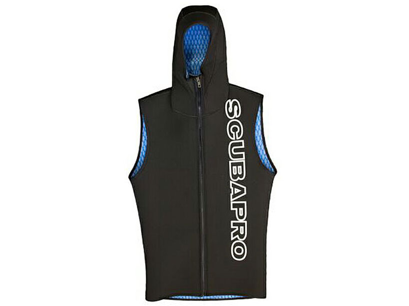 SCUBAPRO(スキューバプロ)3mm フードベスト EVERFLEX HOODED VEST W/ FRONT ZIP 3MM