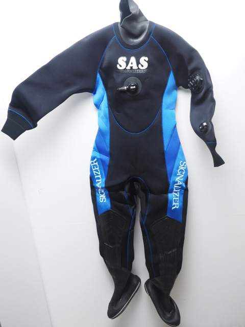 未使用 SAS エスエーエス ドライスーツ レディース 158cm/65kg/24cm [W38615]
