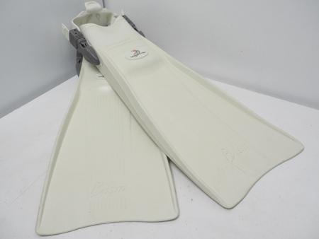 USED BISM ビーイズム FF-FREX ラバーフィン ホワイト サイズ:M (24-25cm) ランクA [W39644]