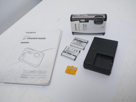 USED OLYMPUS オリンパス Tough-6000 デジタルカメラ ホワイト ランクA [39660]