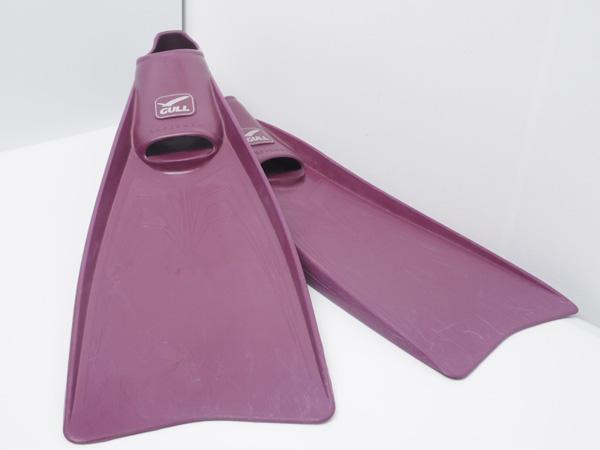 USED GULL ガル SUPER MEW スーパーミュー フルフットラバーフィン ブラック サイズ:XL ランクA [40067]