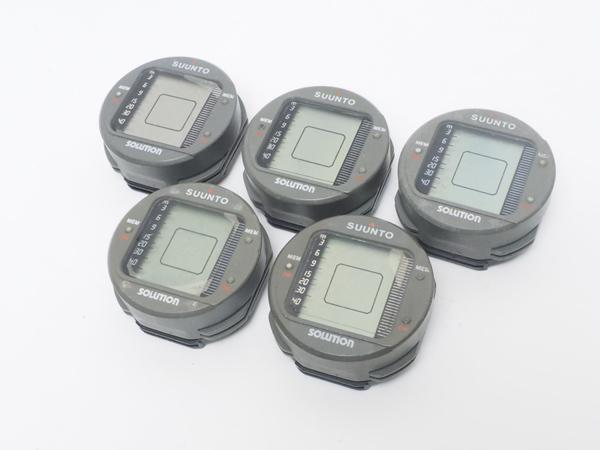 USED SUUNTO スント SOLUTION ソリューション ダイブコンピュータ 5台セット [40550]