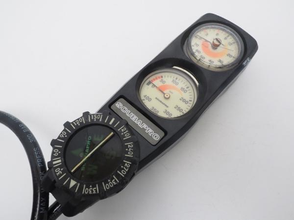 USED SCUBAPRO スキューバプロ 3ゲージ (残圧計+水深計+コンパス) [40661]