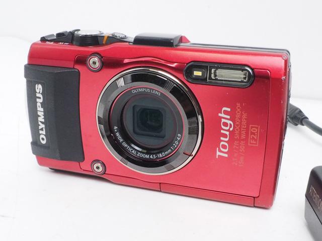 USED OLYMPUS オリンパス TG-04 Tough コンパクトデジタルカメラ ランクAA [41072AZ]