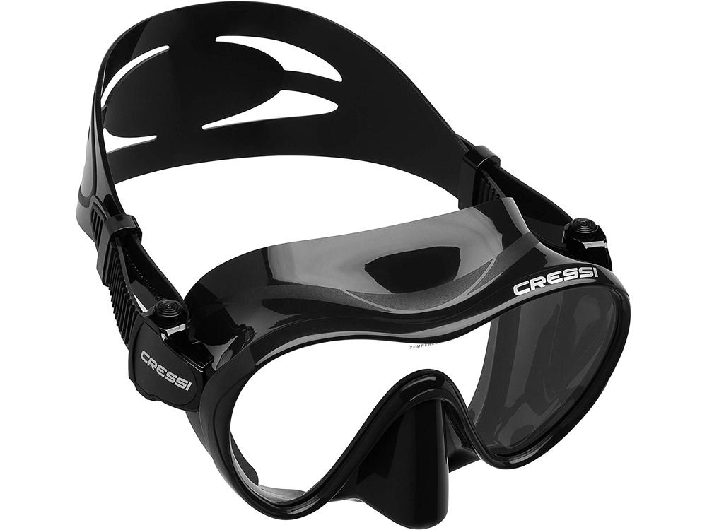 CRESSI(クレッシー)F1 (エフワン) フレームレス ダイビングマスク 一眼レンズマスク シュノーケリング 水中メガネ 全6色