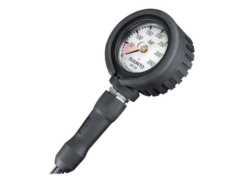 SUUNTO(スント) SM-36 300 残圧計(ホース付き)シングルゲージ Miflexカーボンホース最大350気圧 [SS005100200]