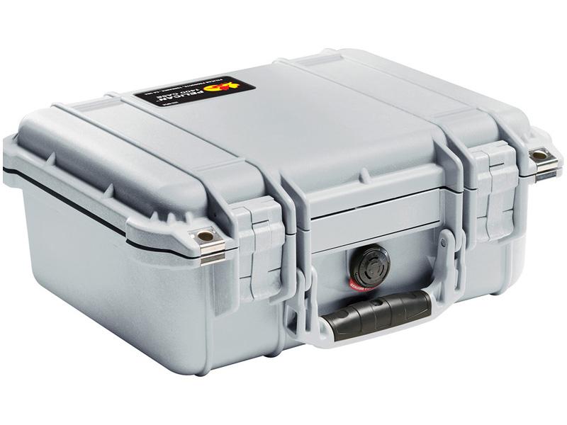 PELICAN(ペリカン) プロテクターケース 1400 フォーム付 SILVER [シルバー] [1400-000-180] 携帯電話 デジカメケース 保護ケース スキューバダイビング ハードケース