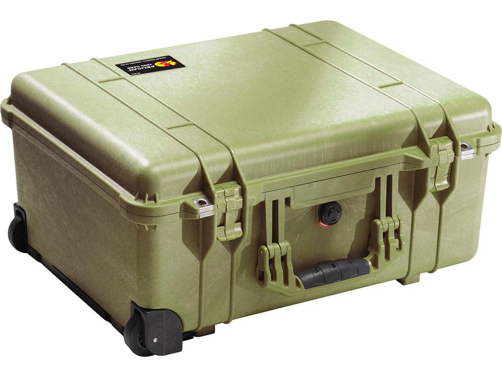 PELICAN(ペリカン)プロテクターケース 1560 フォーム付 OD GREEN [ODグリーン] [1560-000-130] キャスター付き ハードケース 防水性・耐衝撃性・防塵性 保護ケース カメラ用品 収納可能な延長ハンドル