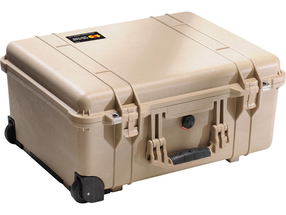 PELICAN(ペリカン)プロテクターケース 1560 フォーム付 DESERT TAN [デザートタン] [1560-000-190] キャスター付き ハードケース 防水性・耐衝撃性・防塵性 保護ケース カメラ用品 収納可能な延長ハンドル