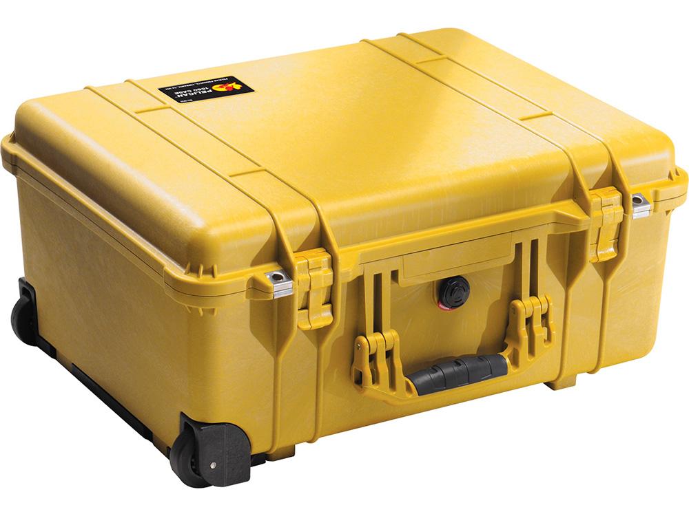 PELICAN(ペリカン)プロテクターケース 1560 フォームなし YELLOW [イエロー] [1560-001-240] キャスター付き ハードケース 防水性・耐衝撃性・防塵性 保護ケース カメラ用品 収納可能な延長ハンドル