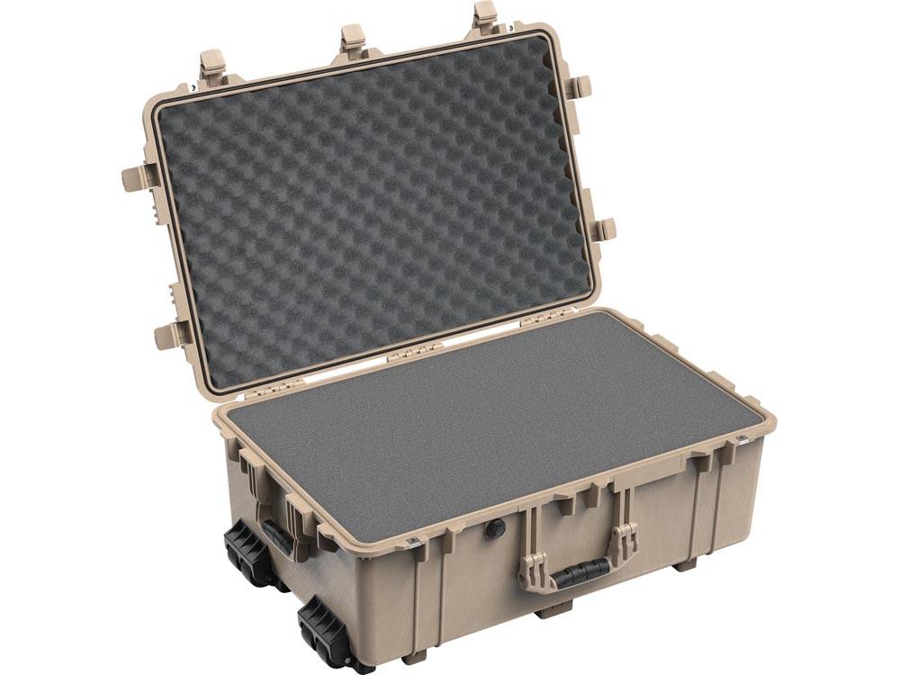 PELICAN(ペリカン)プロテクターケース 1650 フォーム付 DESERT TAN [デザートタン] [1650-020-190] キャスター付き ハードケース 防水性・耐衝撃性・防塵性 保護ケース カメラ用品 収納可能な延長ハンドル