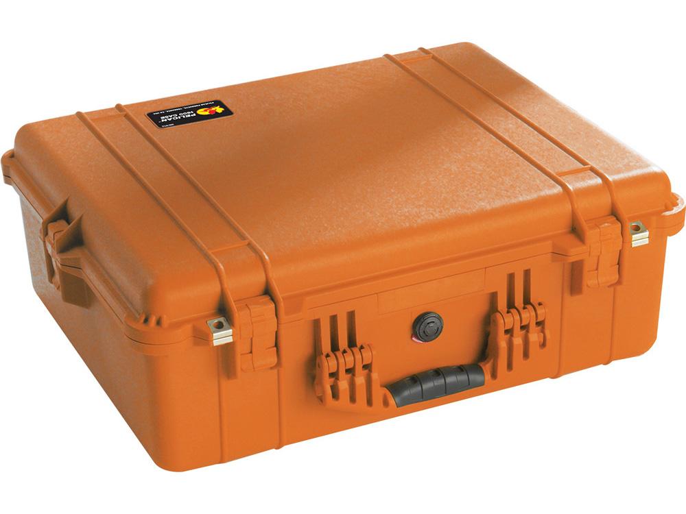 PELICAN(ペリカン)プロテクターケース 1600 フォーム付 ORANGE [オレンジ] [1600-000-150] ハードケース 収納可能な延長ハンドル