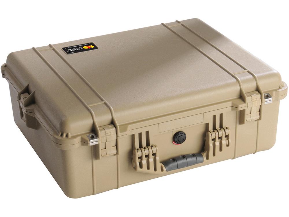 PELICAN(ペリカン)プロテクターケース 1600 フォーム付 DESERT TAN [デザートタン] [1600-000-190] ハードケース 収納可能な延長ハンドル