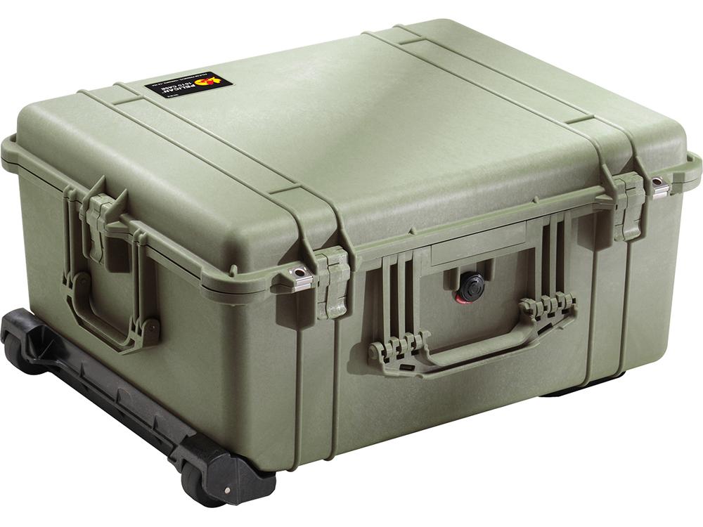 PELICAN(ペリカン)プロテクターケース 1610 フォーム付 OD GREEN [ODグリーン] [1610-020-130] ハードケース 収納可能な延長ハンドル