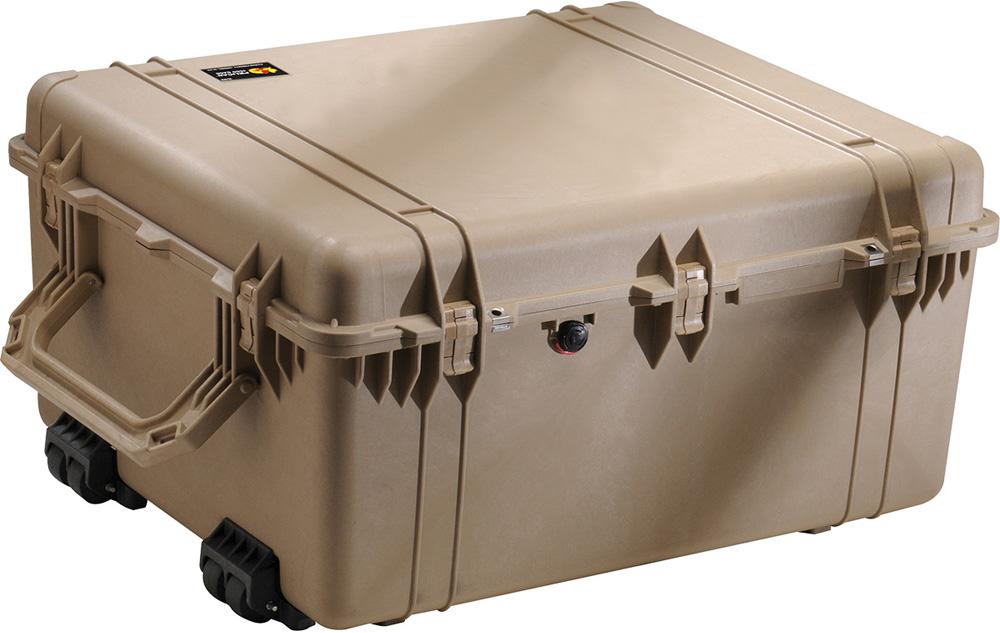 <title>ペリカンケースや その他ダイビング器材がお買い得 PELICAN ペリカン 直輸入品激安 プロテクター ランスポートケース 1690 フォームなし DESERT TAN デザートタン 1690-001-190 ダイビング カメラケース キャスター付</title>