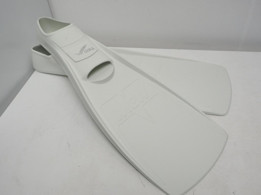 新品 アウトレット GULL MEW ミュー フルフット ラバーフィン ホワイト サイズ:MS(24-25cm) [34849]