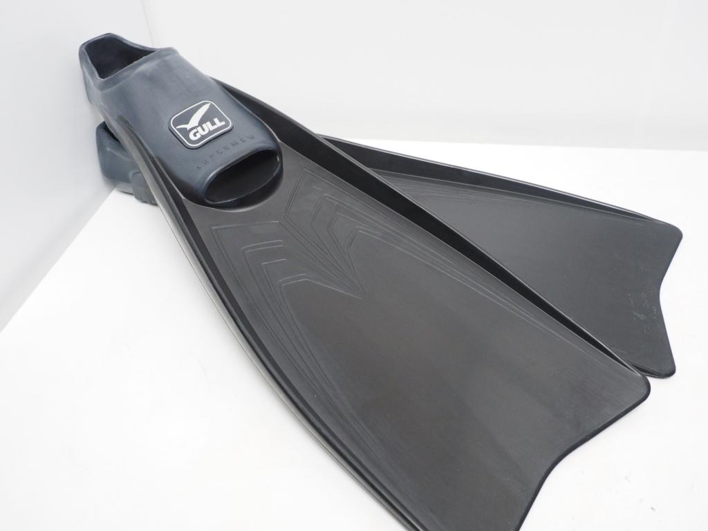 新品 アウトレット GULL SUPER MEW スーパーミュー フルフット ラバーフィン ブラック サイズ:M(24cm) [34850]