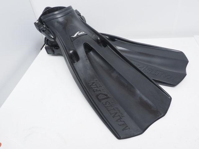 USED GULL ガル MANTIS DRY FIN マンティスドライフィン スプリングストラップ サイズ:S ブラック(22-25cm)ランクAA [W37643AZ]