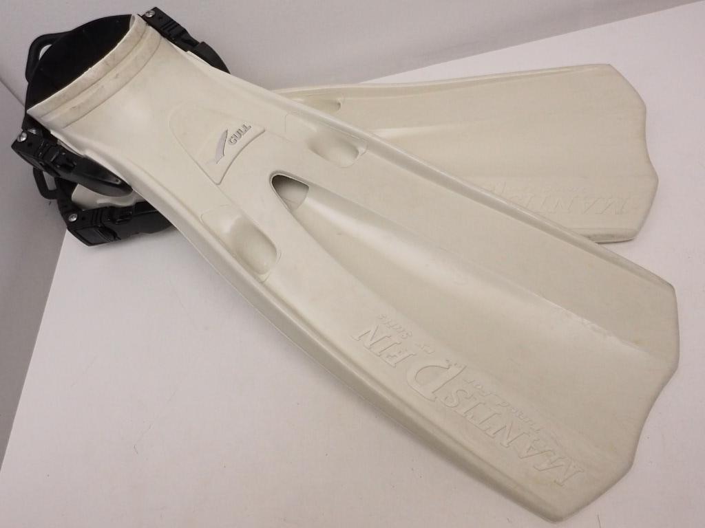 USED GULL MANTIS DRY FIN スプリングストラップ サイズS(24-26)cm ホワイト [RYW32112]