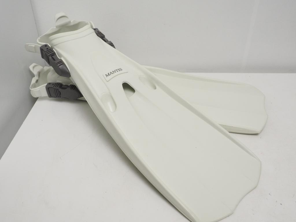 未使用 GULL ガル MANTIS FIN マンティスフィン ホワイト サイズ:L(27-28cm) [W35124]