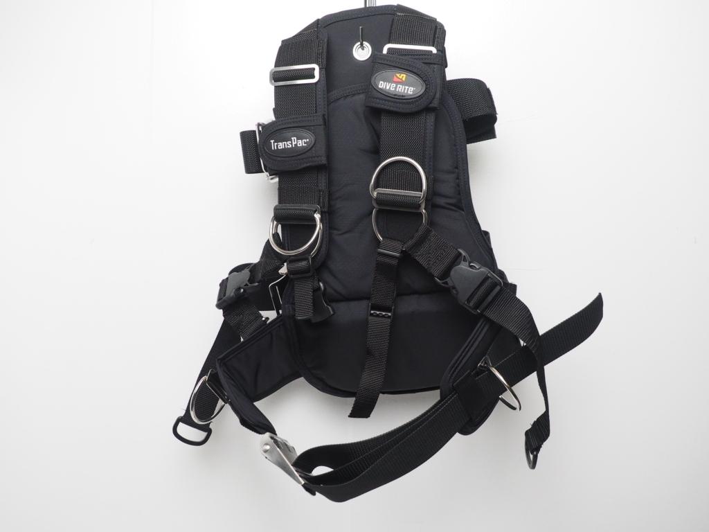 未使用 DiveRite ダイブライト T3000 トランスパックハーネスシステム サイズ:S [S35796]