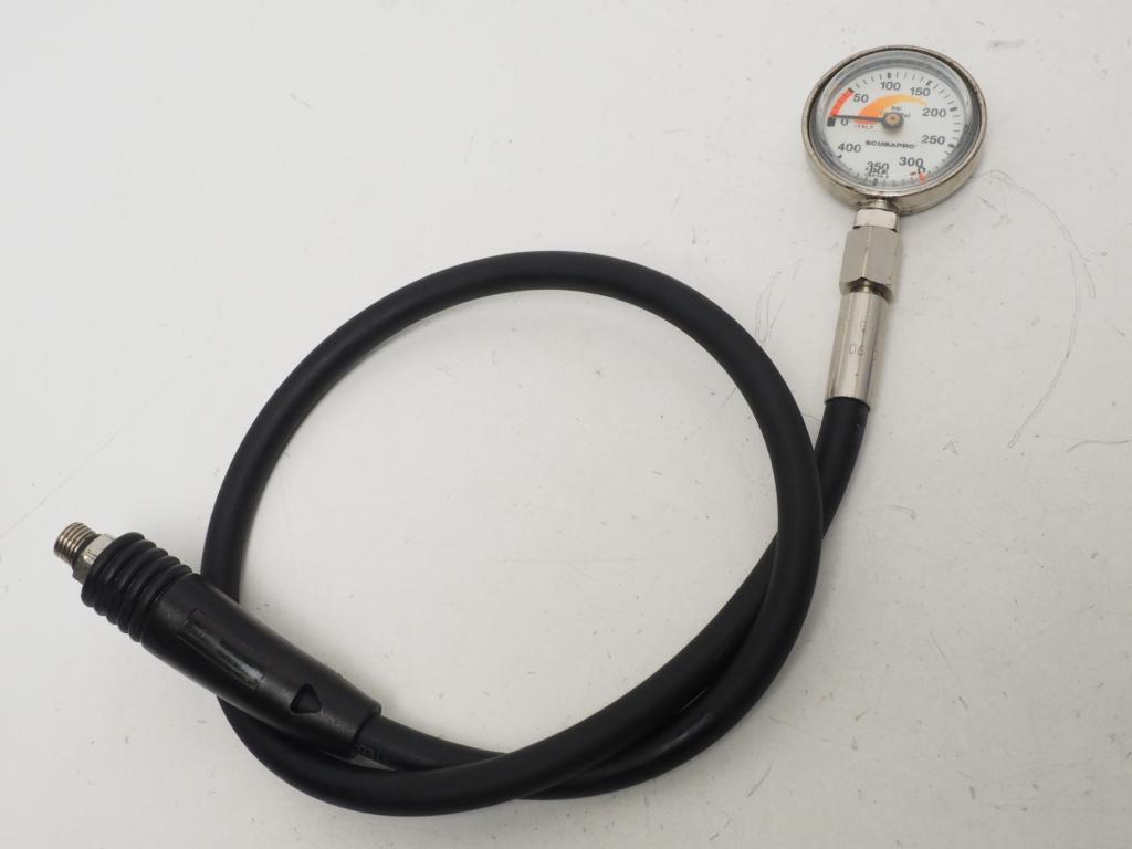 USED SCUBAPRO スキュープロ シングルゲージ(残圧計)OH済 [36058]