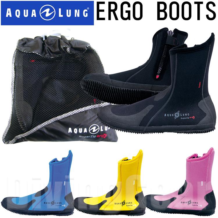 AQUA ストアー LUNG アクアラング 売り出し ERGO ダイビングブーツ 5mm厚 BOOTS エルゴブーツ